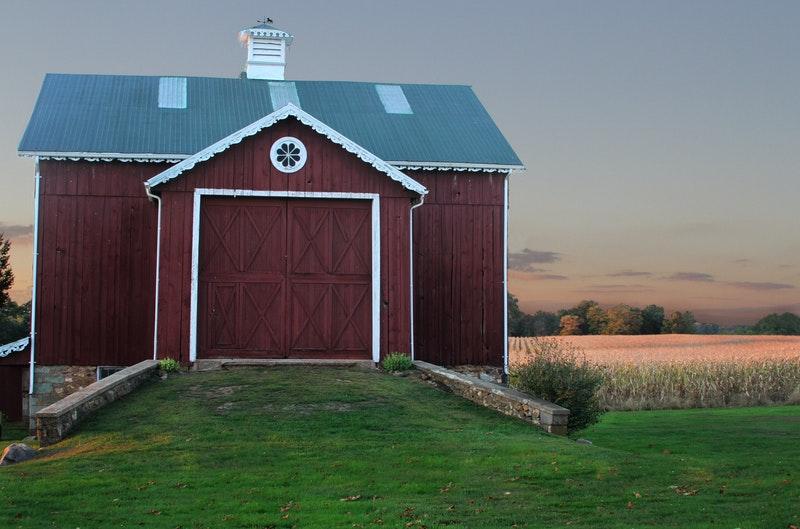 barn house dark brown