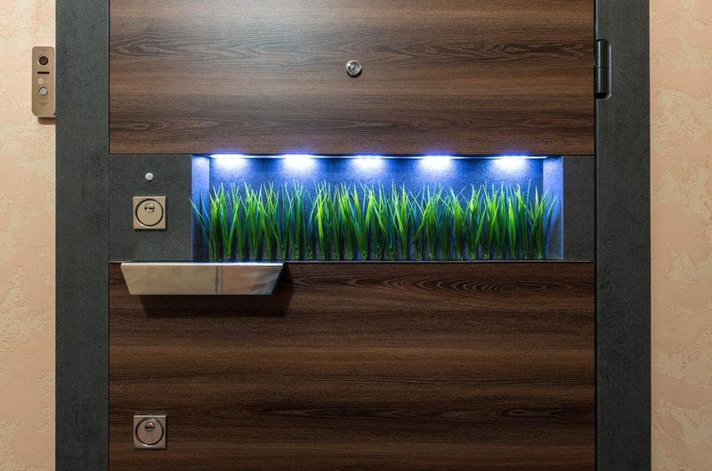 futuristic door in dorm