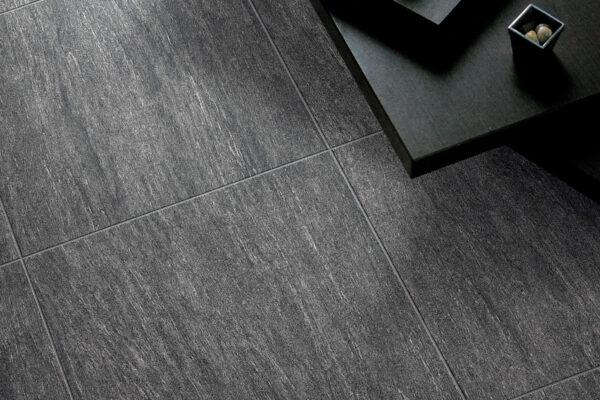 dark gray tiles